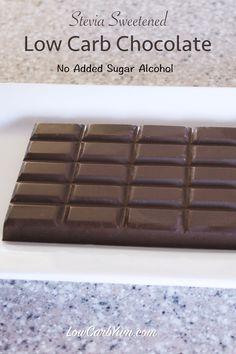 VitaFiber homemade sugar free chocolate bar stevia recipe