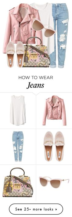 """""""Song Of Style"""" by smartbuyglasses on Polyvore featuring Topshop, Gap, Gucci, GURU, Michael Kors, Pink and michaelkors"""