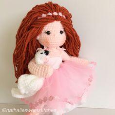 Amigurumi doll and swan