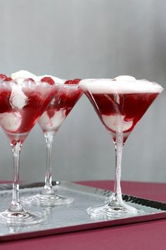 Aren't these gorgeous? Raspberry-Champagne Fizz