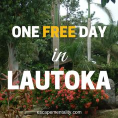 Free activities and cheap eats in Lautoka, Fiji - your free guide to free sightseeing! #escapementality