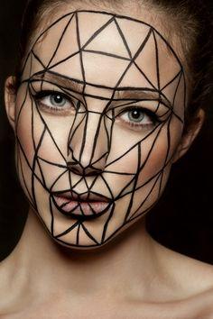 Maquillage artistique Diamant inspirations proportions du visage style Léonard de Vinci Photographe : Damien Mohn Make-up : Myriam Poulet Modèle : Agathe Andrieux