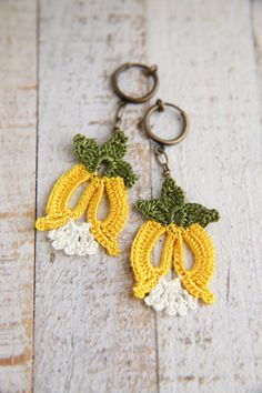 Turkish needle work earrings