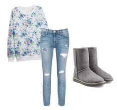 """""""Untitled #39"""" by skamradt ❤ liked on Polyvore featuring Current/Elliott, UGG Australia, women's clothing, women's fashion, women, female, woman, misses and juniors"""
