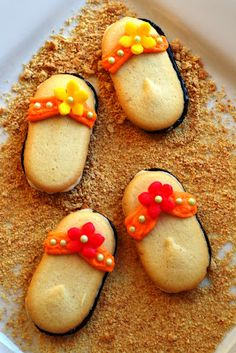 Sweetology: Vacation FLIP FLOP COOKIES ~ Beach Themed!!