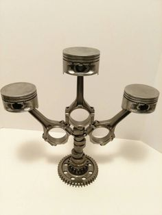 Piston and Rod Candleabra Automotive Decor by FrostAutoDecor                                                                                                                                                      More