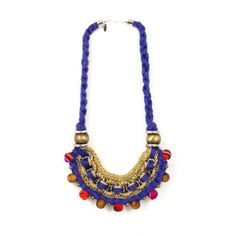 Peruvian inspired necklace. Brooklyn-based Peruvian designer Andrea Bocchio makes a bold, fresh look with her jewelry collection.