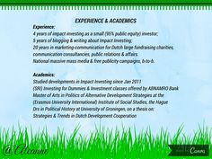 http://www.slideshare.net/alcanne/hi-i-am-alcanne-houtzaager-im-looking-for-work-in-inclusive-impact-investing