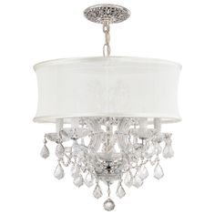 Crystorama Lighting Group Polished Chrome Brentwood 6 Light Wide Drum Chandelier with Clear Swarovski Strass Crystals Drum Shade Chandelier, Shell Chandelier, Chandelier Lighting, Crystal Chandeliers, Bedroom Chandeliers, Chandelier Ideas, Contemporary Chandelier, Modern Pendant Light, Thing 1