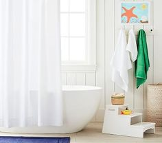 Tassel Shower Curtain Navy