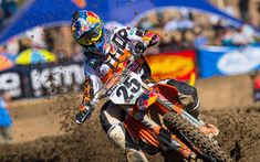 Download wallpapers 4k, Marvin Musquin, raceway, 2018 cars, motocross, KTM 450 SX-F Factory Edition, sportsbikes, KTM