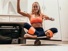 DIY Indo Board/Balance Board: With Pictures : 9 Steps (with Pictures) - Instructables Balance Board Exercises, Balance Trainer, Muscle Building Workouts, Functional Training, Boredom Busters, Yoga, Hiit, At Home Workouts, Fitness Motivation