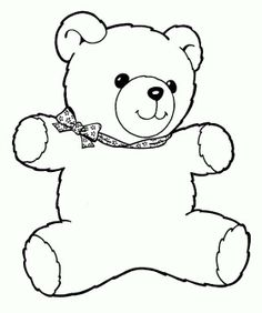 14 best Teddy Bear Coloring Pages images on Pinterest in 2018 ...