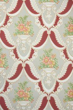 floral damask vintage wallpaper, victorian