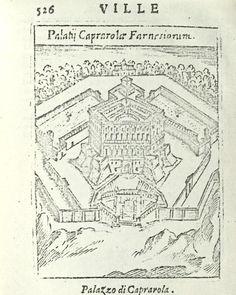 """Italy - Lazio - Caprarola (Viterbo) - Palazzo Farnese - da """"Ritratto di Roma moderna..."""" di Pompilio Totti - Roma, 1638"""
