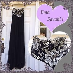 ❕Ema Savahl Evening Gown Beautiful Ema Savahl Strapless Evening Gown -just gorgeous with beautiful embroidery, beaded work, and hand painted embellishments. This is a celebrity dress too, worn by several I'm told. -from the remaining inventory of a women's boutique that had to close -enjoy a gorgeous gown from a coveted designer at a steal  -original price was $1,399.  Then, when the store was closing, it was marked down to $699. -made in the USA Ema Savahl Dresses Strapless