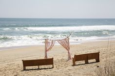 Intimate ceremony idea by Sugar Snap Events, beautiful Outer Banks beach wedding