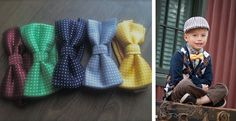 BACK AGAIN! Boys Polka Dot Bow Ties in 5 Holiday colors! Shipped in time for Christmas! | Jane