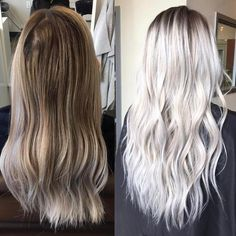 Make it Icy ❄️ Transformation by @colorwithgrace with Olaplex to keep the hair strong and healthy.  #Olaplex #transformation #platinum #icyhair #hairgoals #blonde