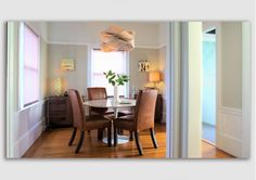 dining room design idea - Home and Garden Design interior decorating before and after house design design ideas Home Design, Modern House Design, Modern Interior Design, Design Ideas, Dining Room Design, Dining Rooms, Studio Apartment Design, Furniture Placement, Modern Room
