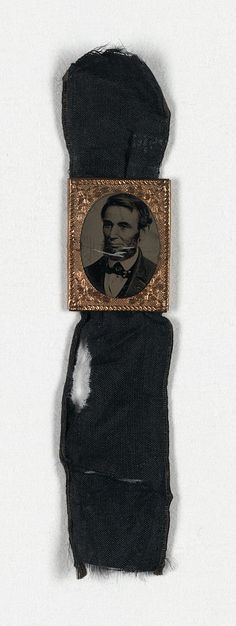 Mourning ribbon for Lincoln's funeral. To think that this modern tradition goes back so far is interesting.