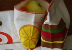 Organic cotton food storage bags