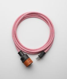 Leather Extension Cord - Red and White at Allied Maker