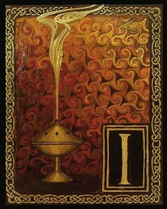 I is for Incense, by Emily Balivet, 2003 (Series: Medieval Alphabet Letter). -- https://www.etsy.com/listing/37181333/i-is-for-incense-medieval-alphabet?ref=shop_home_active_18&ga_search_query=Medieval%2BAlphabet%2BLetter