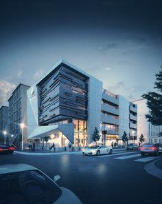Concept Board Architecture, Office Building Architecture, Building Concept, Hotel Architecture, Commercial Architecture, Building Facade, Building Exterior, Architecture Design, Design Exterior