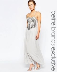 Maya Petite | Maya Petite Embellished Bodice Bandeau Maxi Dress at ASOS