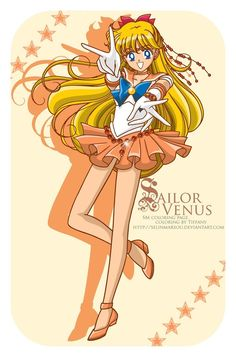 Minako Aino (Sailor Venus) from Sailor Moon: She was my favourite.