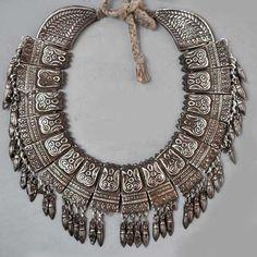 Tikma necklace, Nepal. Very nice silver on original cord (private collection Linda Pastorino)