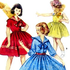 1950 little girls sailor dress