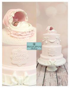 Sweet pink christening cake - Hempeä vaaleanpunainen ristiäiskakku - Cake by Frangipani Bakery