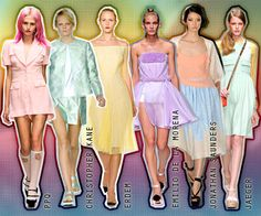 Pastels are going to be the colors for Spring 2012