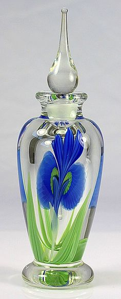 Orient & Flume Iris Perfume Bottle by Bruce Sillars from scholaertcassel on Ruby Lane