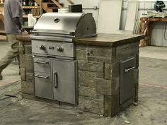 Tight on space? How about this Urban Grill Island from Walttools. Authentic custom looks, DIY friendly.