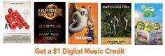 AMAZON $$ FREE $1 MP3 Credit w/FREE Featurette Purchase!