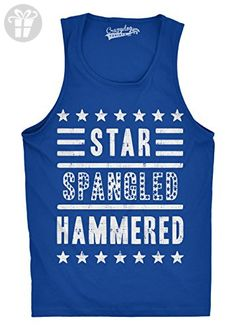 Mens Star Spangled Hammered Funny Shirts Workout Sleeveless Fitness Tank Top (Royal Blue) -XXL - Funny shirts (*Amazon Partner-Link)