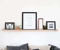 DIY: Wooden Picture Ledge @themerrythought