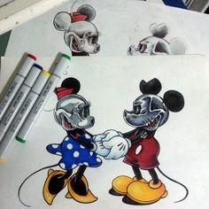 Skull mickey mouse