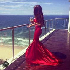 Sexy A-line Beads High-neck Red Prom Dresses,Long Evening Dresses,Prom Dresses on Luulla Evening Dresses, Prom Dresses, Formal Dresses, Wedding Dresses, Bridesmaid Dresses, Look Girl, Photo Instagram, Style Instagram, Disney Instagram