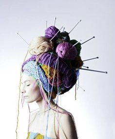 Get ready with me as I put my Yarn Goddess Halloween Costume together! Have you figured out what you are going to DIY for yourself for your Halloween Costume? Knitting Humor, Knitting Projects, Knitting Patterns, Crochet Humor, Free Knitting, Crochet Projects, Fascinator Wedding, Tricot D'art, Knit Art