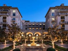Montage Beverly Hills (225 North Canon Drive) This Beverly Hills hotel offers a rooftop pool with a sun terrace. Free WiFi is available and Turkish cotton bathrobes are provided. Staples Center is 20 minutes' drive away. #bestworldhotels #travel #us #losangeles