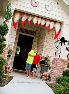 Craftibilities: Making your house come ALIVE!!! Halloween decoration IDEAS - Tutorial