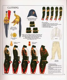 French; Imperial Guard, Dragoon(The Empress' Dragoons) Regt, Details of ORs clothing including NCo's distinctions.