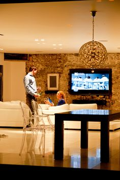 Lighting control creates romantic atmosphere around your home. @SmartaTech #Control4 home automation lighting system.