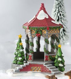 Miniature Fairy Garden Holiday Gazebo | Miniature Fairy Gardens