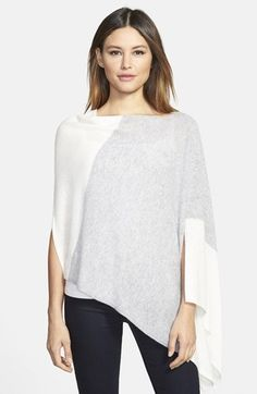 White+++Warren+Convertible+Colorblock+Cashmere+Poncho+available+at+#Nordstrom