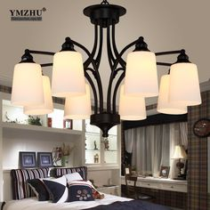 95.00$  Watch here - http://ali0d8.shopchina.info/go.php?t=32756105677 - American Rural Pastoral Chandeliers Iron Retro Living Room Light Scandinavian Restaurant Lamp Bedroom Light Simple and stylish  #magazine